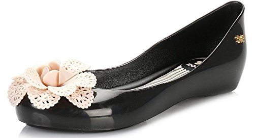 Zaxy Pop Garden Black Nude Ballerinas Womens Flats Shoes-7