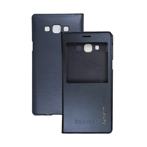 Casotec Premium Caller-id Flip Case Cover Flip Case Cover for Samsung Galaxy A8 - Deep Blue  available at amazon for Rs.149