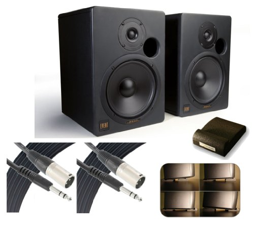 Event 20/20Bas Nearfield Studio Monitors (Pair) Includes Free Vicoustic Speaker Feet & 2 Pack Comprehensive Xlr Plug To 1/4 Inch Stereo Plug Audio Cable 25Ft