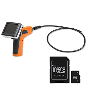 Wireless Waterproof Snake Recordabl Plumbing Sewer Inspection Camera with 3.5 TFT-LCD palm Color removeable LCD Monitor - Borescope Endoscope (SD Card not included)