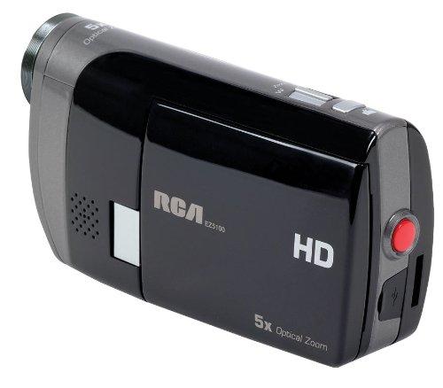 RCA EZ5100R Small Wonder Palm Style HD 1080P Digital Camcorder (Black/Silver)