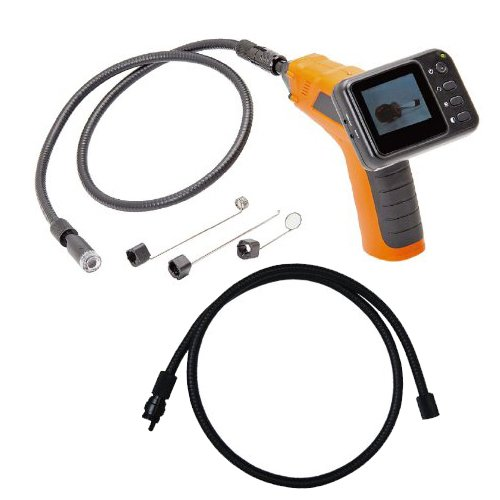 Wired Waterproof Snake Plumbing Sewer Inspection Handheld Camera with 2.5 TFT-LCD Color Monitor Flexible Extended Tube (Extend to 9ft Detection Range)
