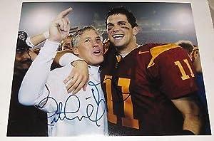 Signed Matt Leinart Photograph - Pete Carroll 11x14 Usc Trojans Heisman Coa -... by Sports+Memorabilia