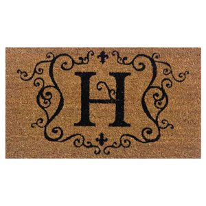 Evergreen 2RM008 Monogram Door Mat, Coir Insert, Letter H, 16-Inches x 28-Inches