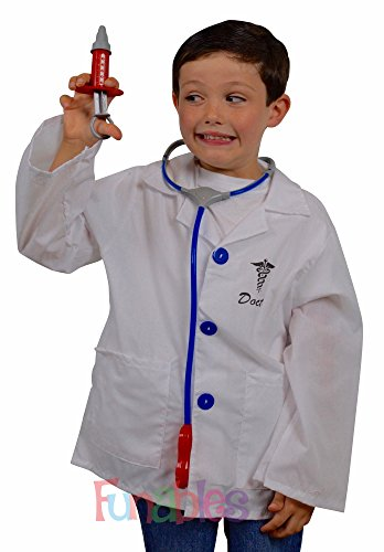 Doctor Costume for Children Lab Coat plus 9 Play Medical Instruments (Blood Pressure Kit For Kids compare prices)