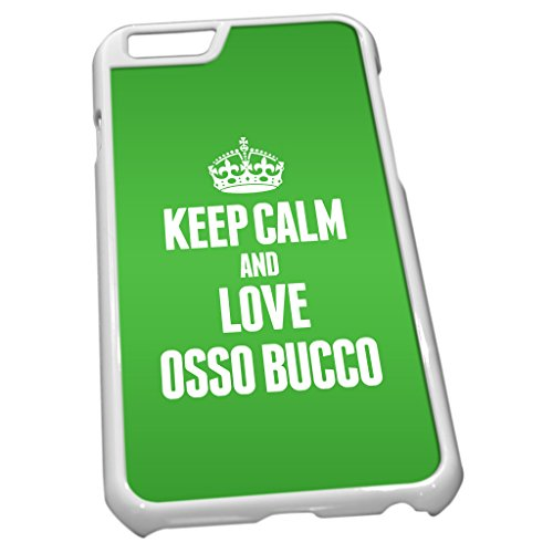 Blanc Coque pour iPhone 6 1333 Vert Keep Calm and Love osso bucco