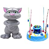 New Pinch Combo Of Rotating Magnetic Fishing Game And Talking Interactive Toy For Kids