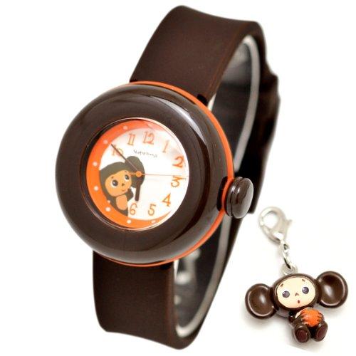 [チェブラーシカ]Cheburashka 腕時計 キャラクターウォッチ チェブラーシュカ シリコン ベルト フィギア付き ホワイトxブラウン CHA3030213 ガールズ