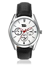 TSX Analog White Dial Mens Watch- TSX-WATCH-046