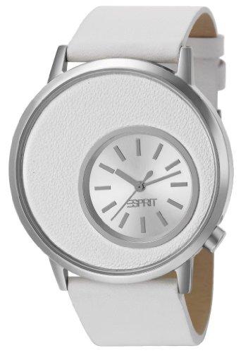 Esprit-Damen-Armbanduhr-XL-Copa-White-Analog-Quarz-Leder-ES105672002