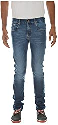 London Jeans Slimfit Stretch Mens High Fashion Jeans (Ljrvsdk_36_Dark Blue_36)