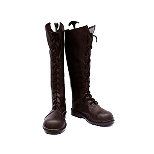 [Japan Cosplay] The Betrayal Knows My Name (Uraboku) Toko Murasame Brown Long Boots Japanese Anime Cosplay Shoes Mens