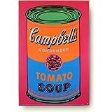 アンディ ウォーホル キャンベルスープトマト缶カラーラベル アートポスター
