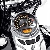 Combination Analog Speedometer/Tachometer - Spun Aluminum Dial - kmh