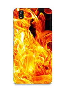 Amez designer printed 3d premium high quality back case cover for OnePlus X (Lights flames black)
