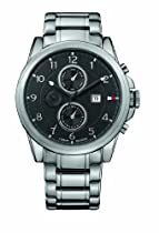 Tommy Hilfiger 1710296 Mens Black and Silver Bayside Chronograph Watch
