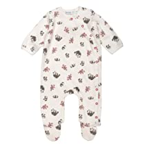 Little Panda Side Snap Footie - Print - 9M