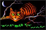 Alice in Wonderland (Cheshire Cat, We're All Mad Here)  24x36 FRAMED Poster Print