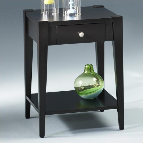 Image of Hammary T2002910-00 Modern Hammary Currant Square Drawer End Table (T2002910-00)