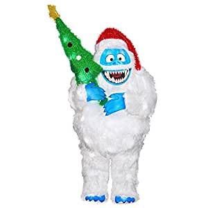 New gemmy rudolph the red nosed for Abominable snowman outdoor decoration