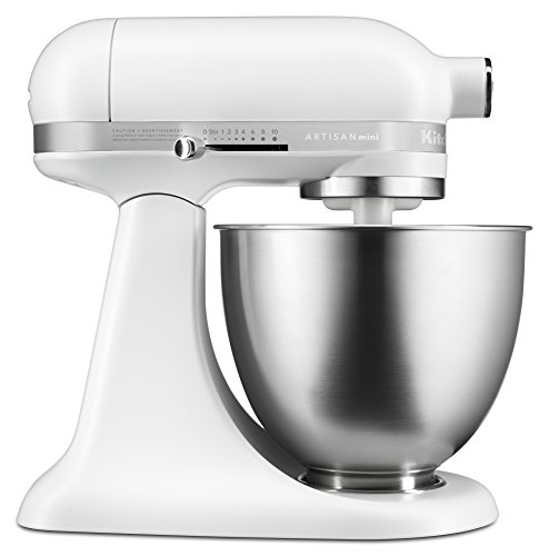 Buy Discount KitchenAid KSM3311XFW Artisan Mini Series Tilt-Head Stand Mixer, Matte White, 3.5 quart