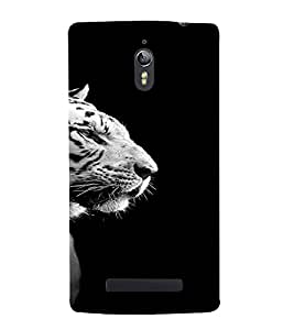 PrintVisa Animal Tiger Design 3D Hard Polycarbonate Designer Back Case Cover for Oppo Find 7