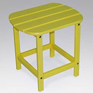 Polywood Outdoor Furniture 15 Inch Side Table White-recycled Plastic Materials from Polywood Furniture