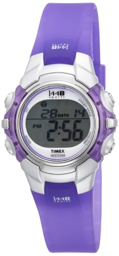 Timex Women's T5K459 1440 Sports Digital Purple Resin Watch