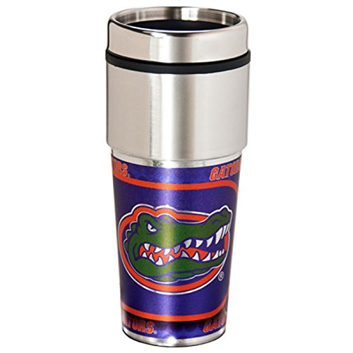 Ncaa Florida Stainless Steel Travel Tumbler With Metallic Wrap | University Of Florida Gators Travel Coffee Cup
