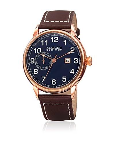 August Steiner Reloj de cuarzo AS8182RGBR Rosado / Marrón 44 mm