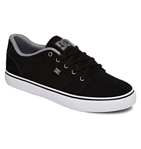 Dc Men'S Anvil Skate Shoe,Black/Silver,12 M Us
