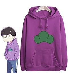 Japanese Manga SIX SAME FACES Konya wa Saikou Mr.Osomatsu San ED Anime Candy Colorful Jacket Hoodie Sweater (Purple, M)
