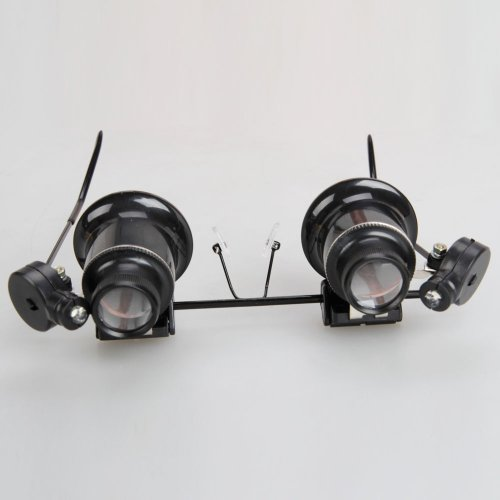 Micromall 20X Glasses Type With Led Light Magnifier Loupe
