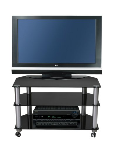 meubles tv still stand stuk 1401 bl meuble tv avec roulette. Black Bedroom Furniture Sets. Home Design Ideas