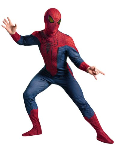 Spider-Man Movie Deluxe Adult Costume Xxl 50-52 Adult Mens Costume