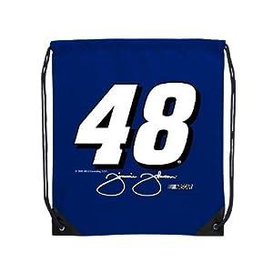 Drawstring Cinch Bag, Jimmie Johnson - No. 48, 18-in. X 14-in. (Blue) by Dist Edwenda LLC