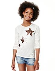 Limited Speckled Star Sequin Embellished Top