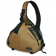 Caden K1 Shoulder Bag Triangle Carry Case (Khaki) For DSLR Sony Canon Nikon Camera Lens