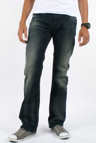 Diesel - Mens Zatiny 802C Denim Jeans, Size: 40W x 30L, Color: Denim