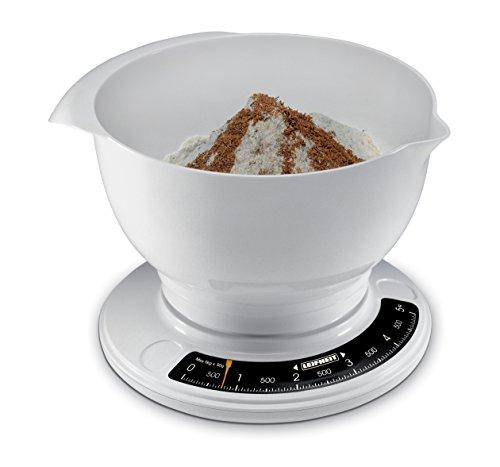 Leifheit 03172 Balance de Cuisine Analogique avec Grand Bol Mélangeur