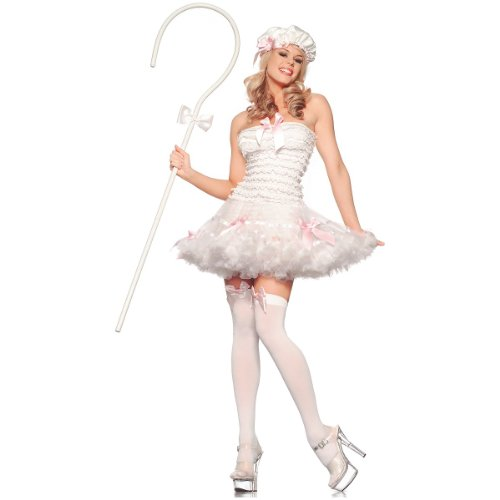 [Lil' Bow Peep Costume - Small/Medium - Dress Size 4-8] (Lil Bo Peep Adult Costumes)