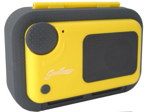 Good Times Floating Waterproof Speaker Case For All Iphone And Android Phones (Yellow)