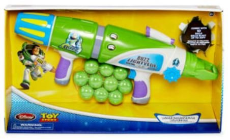 Toy Story - Buzz Lightyear's Foam Nerf Gun Blaster (Includes 10 Foam Balls)
