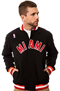 NBA Mitchell & Ness Miami Heat Authentic Vintage Warm-Up Jacket - Black (X-Large) by Mitchell & Ness