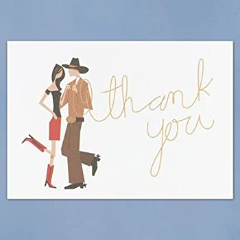 Western Couple Thank You Cards