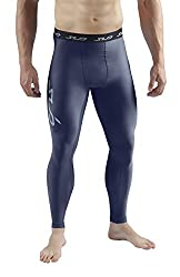 SUB Sports COLD Mens Compression Pants - Thermal Base Layer Leggings Tights Navy Medium