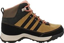 adidas Outdoor Kids Girl\'s Winter Hiker Mid GTX (Little Kid/Big Kid) Cardboard/Black/Raw Pink Boot 1 Little Kid M