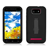 AIMO Progressive Guerilla Armor Case w/ Built-in Kickstand for BLU Studio 5.5 D610A - (Black / Black) by Aimo Wireless