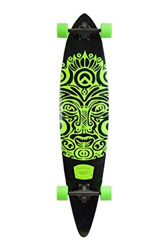 Quest Buena Karma Pintail Longboard Skateboard, Bright Jade Green, 44