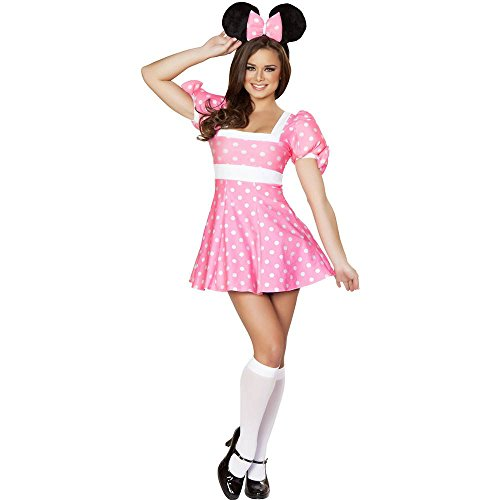 Pretty in Pink Mouse Sexy Adult Costume